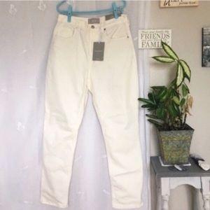 Everlane NWT High Rise Straight Jeans Bone 28R